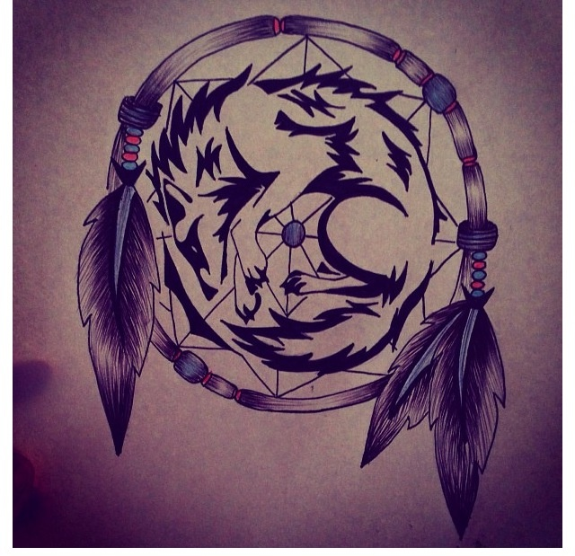 wolf dreamcatcher drawing related - photo #4
