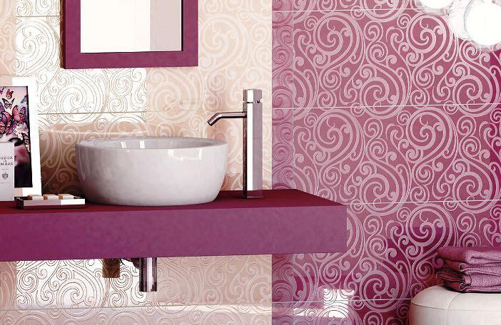 Motif Keramik Kamar Mandi Warna Pink