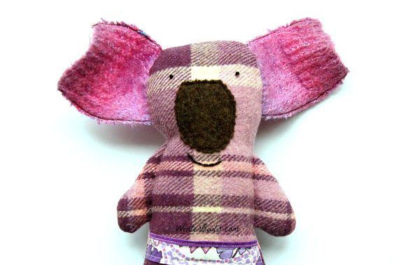 Koala Stuffed Animal, Handmade Soft Toy, Australiana, Australian Animals, Plushie Creature