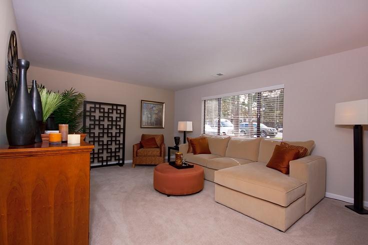 Extremely spacious one bedroom one bath Lasalle floorplan #Livingroom
