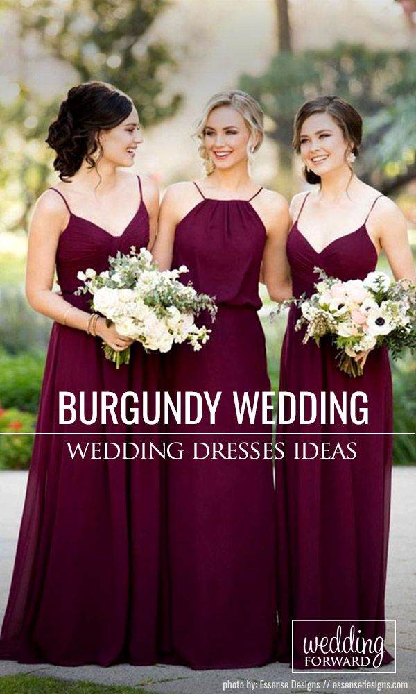 Burgundy Wedding - Best Ideas For Fall Wedding 2017 ❤ Burgundy wedding is a very popular scheme for fall ceremonies. Look at the interesting ideas for burgundy weddings. See more: http://www.weddingforward.com/burgundy-wedding/ #wedding #dresses