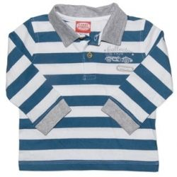 Striped long sleeve polo shirt.  Sizes 000, 00, 0 & 1.