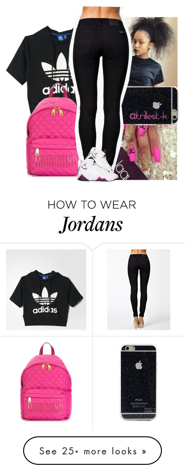 """Itty Bitty Piggy-Nicki Minaj"" by trillest-k on Polyvore featuring adidas, Moschino, Nudie Jeans Co. and Retrò"