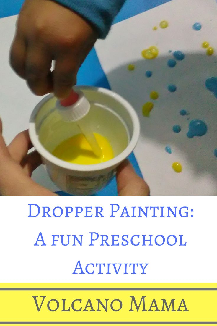 DROPPER PAINTING A FUN PRESCHOOL ACTIVITY Ready to paint?!