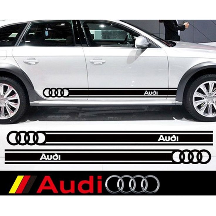 High Quality car sticker body side Graphic vinyl waistline decal for AUDI 1 Pair #Unbranded
