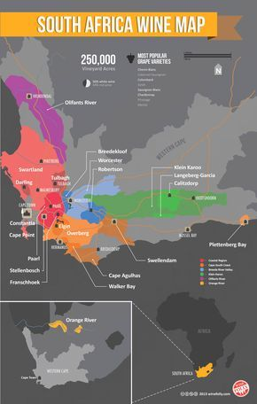 South African Wine Map via @Stefania Giannella Oblitas Folly #pretty #savvy