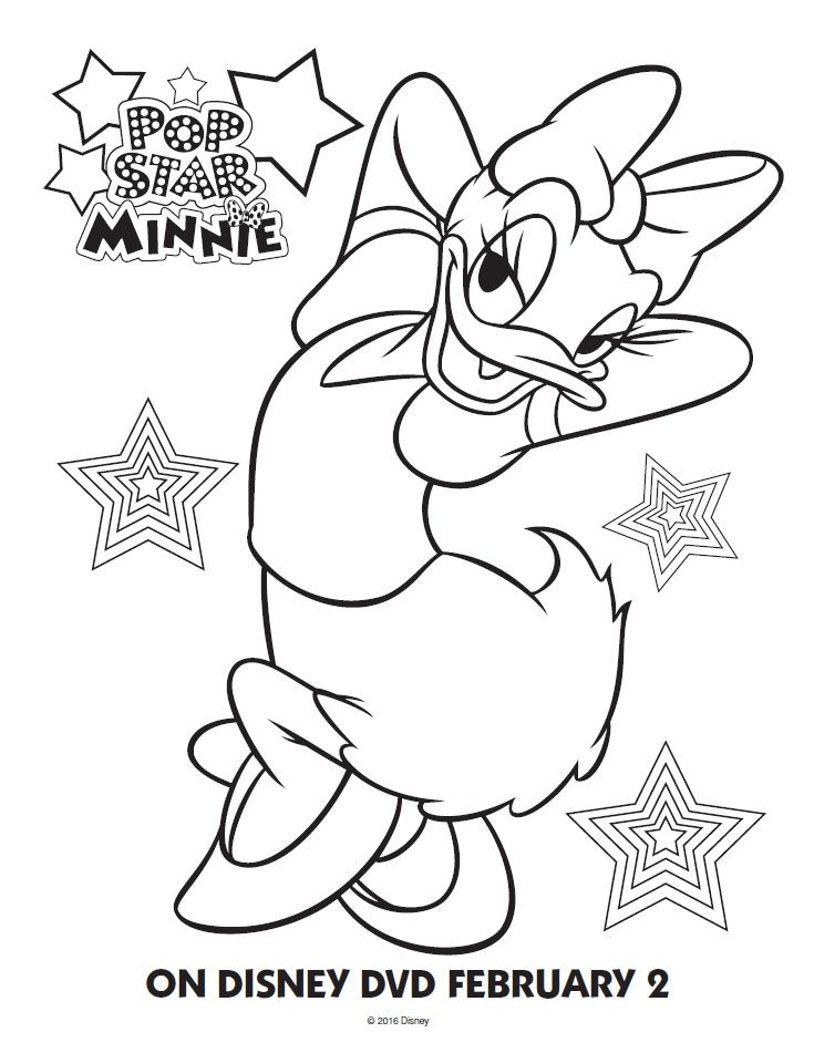 minnie and daisy coloring pages - photo#32
