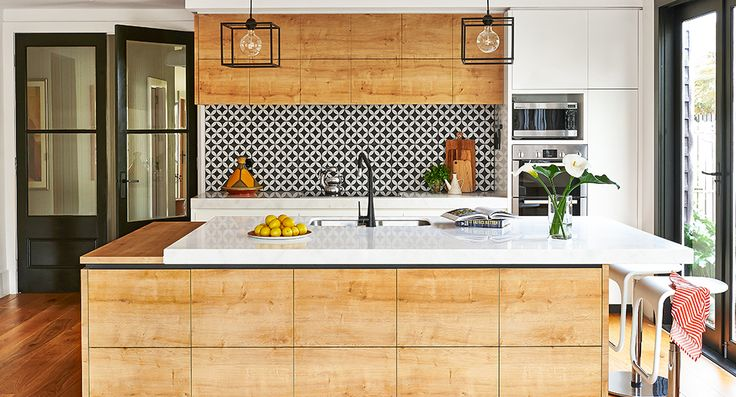 Stunningly exotic timber kitchen