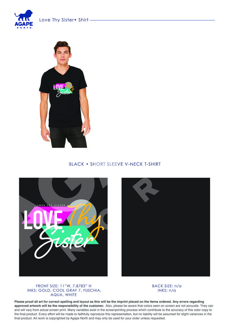 Custom Apparel that Gives Back. #LoveThySister
