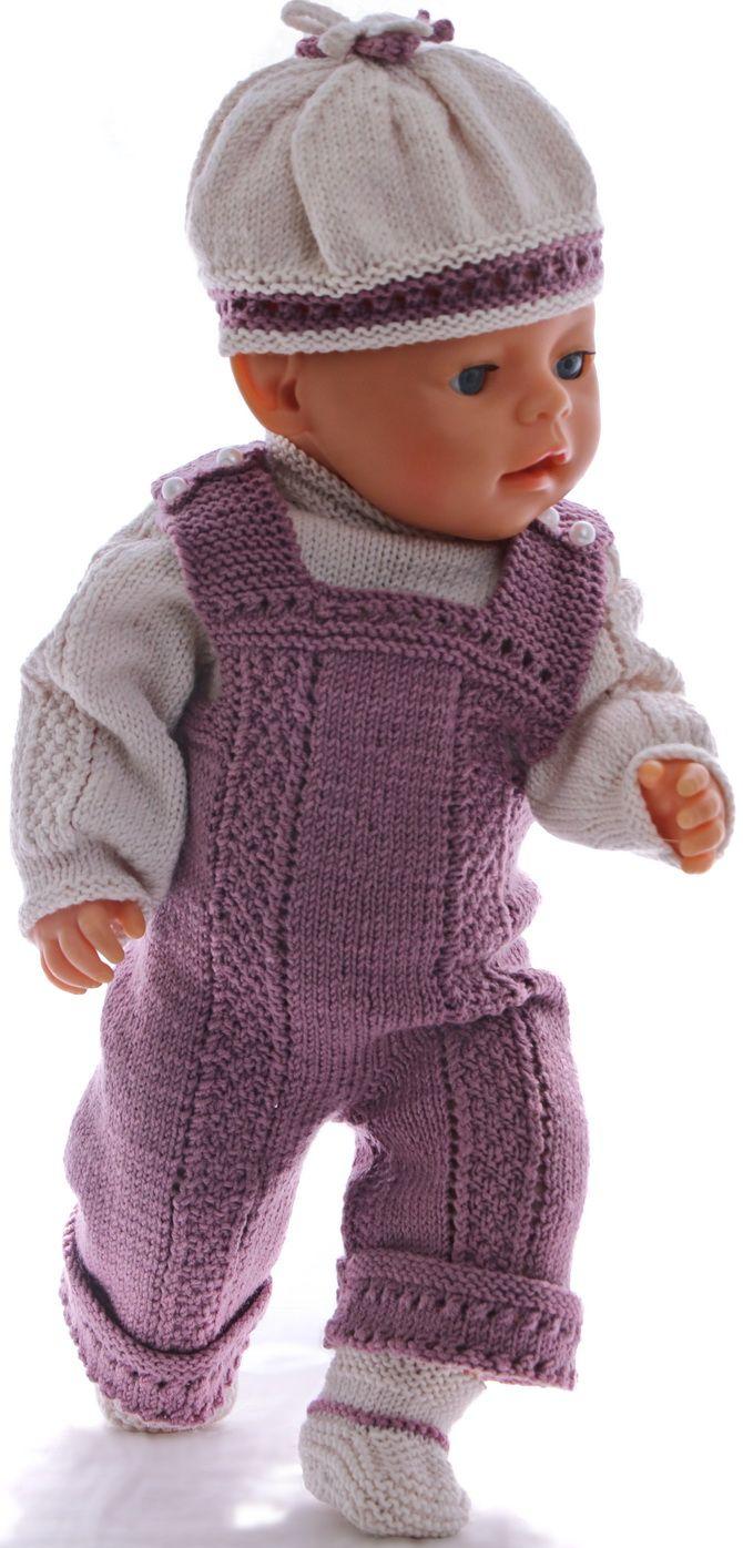 patroontjes poppenkleertjes - Zomerse setje voor uw pop in wit en lila!
