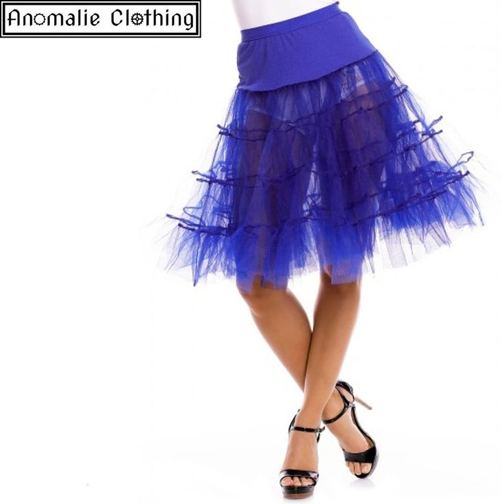 Long Flared Petticoat in Blue