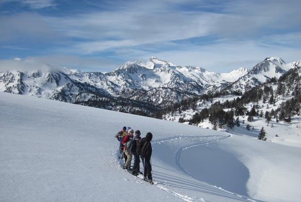 Raquette de charme dans les Grands Sites des Pyrénées