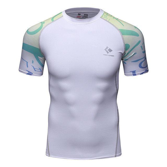 2017 New Raglan Short Sleeve Skin Rash Guard Complete Graphic Compression Shirts Multi-use Fitness MMA Crossfit Tops Shirts