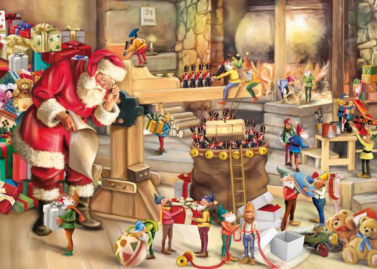 King Santa's Workshop Christmas Jigsaw Puzzle (1000 Pieces) - Brand New in Toys & Games, Jigsaws & Puzzles, Jigsaws | eBay