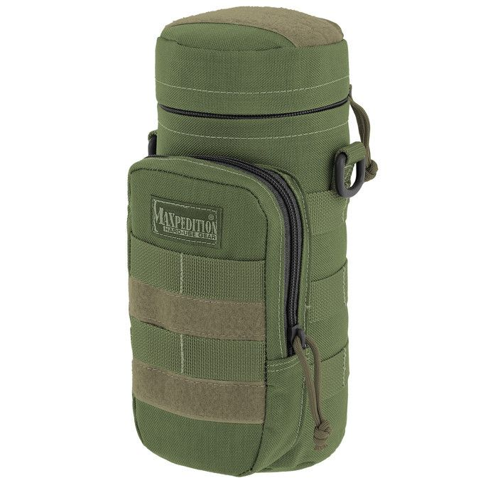 """Maxpedition - 10""""x4"""" Bottle Holder - Check out our collection of MOLLE Gear, MOLLE Pouches, Velcro Pouches, Tactical Pouches, MOLLE Tactical Gear, Modular Pouches, Modular MOLLE Pouches, Modular MOLLE Velcro Pouches, First Aid Pouches, Medical MOLLE Pouches, Molle Gadget Pouch, EMT Pouch, First Aid MOLLE pouches, M.O.L.L.E Compatible Gear, Airsoft MOLLE Pouches, Hydration Pouches, Munitions Pouches, Rip-away Pouches, Modular Gear, Utility and Dedicated Pouches."""