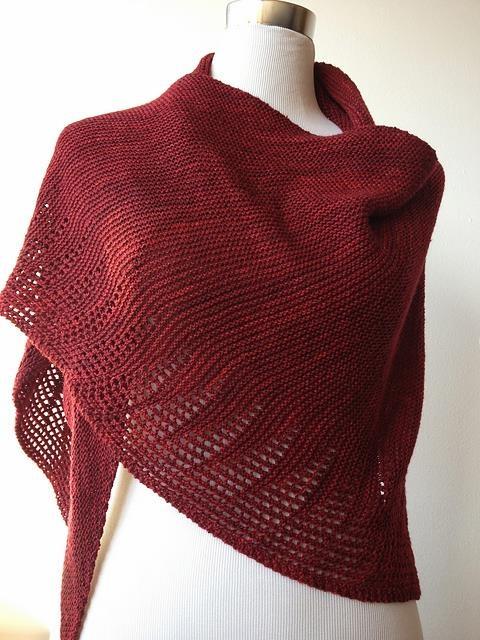 Malabrigo Knitting Patterns : Shawl. Freesia by Jumper Cables Knitting malabrigo Sock, Tiziano Red. Shawl...