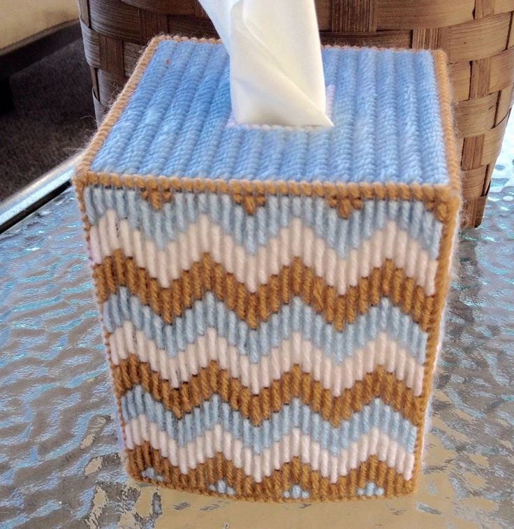A personal favorite from my Etsy shop https://www.etsy.com/listing/485016036/baby-blue-brown-and-white-tissue-box