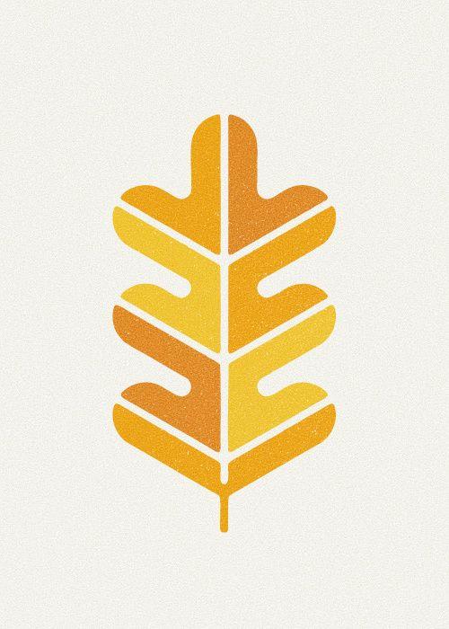 leaf, autumn, yellow, print, design, nature, printmaking, lino