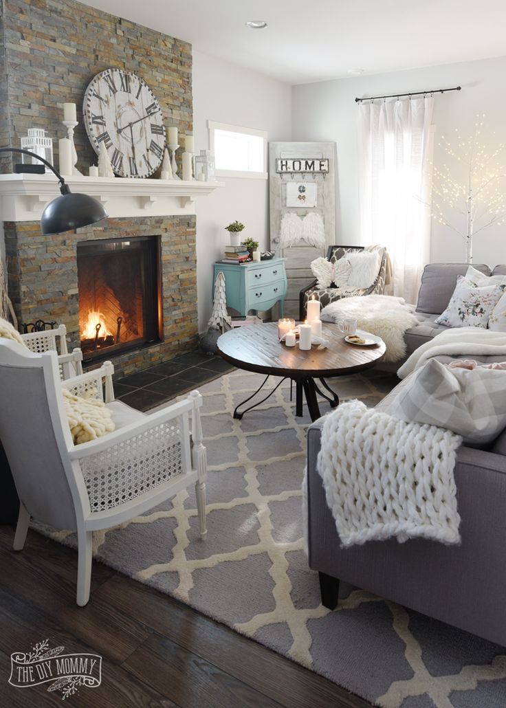 How to create a cozy hygge living room this winter home - Living room design ideas and photos ...