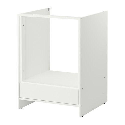 Chambre Bleu Et Gris Bebe : IKEA  FYNDIG, Élément bas pour four, blancblanc, , Conçu pour