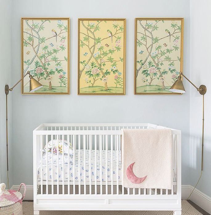 Cece Thompson's Home, Chinoiserie Nursery, Girls Room