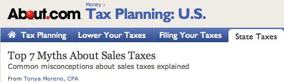 Top 7 Sales Tax Myths