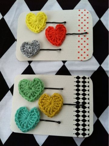Heart bobby pins. So mini. So cute