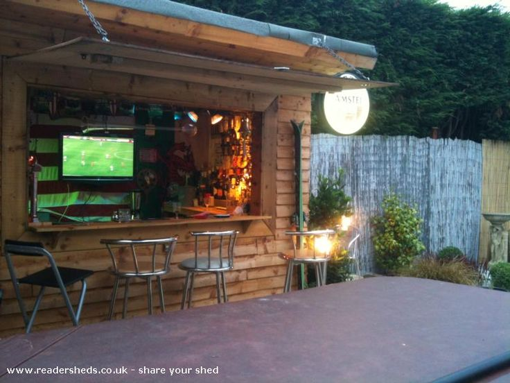Classic bar shed tiki bars and bar sheds pinterest for Shed into pool house