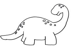 35 best images about blank pages on pinterest for Simple dinosaur coloring pages