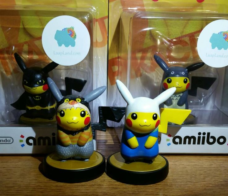 Save Hyrule, Gotham, And More With These Custom Pikachu amiibo ...