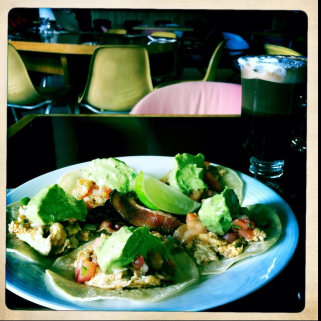 Hangover tacos at the Waldorf Hotel, a newly renovated and retro tiki lounge kind of place. Films, dances, seminars, wine talks in the evenings.