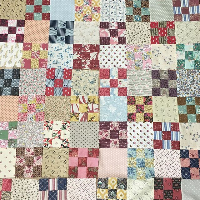Oops might have accidentally started another quilt! #luccellomelbourne #postagestampquilt  #ninepatchquilt  #libertyfabric #vintagefabric #reproductionfabric #scrappyquilt #dontwasteathing