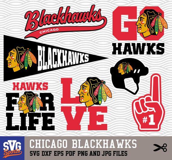 Download CHICAGO BLACKHAWKS SVG logos, monogram silhouette, cricut ...