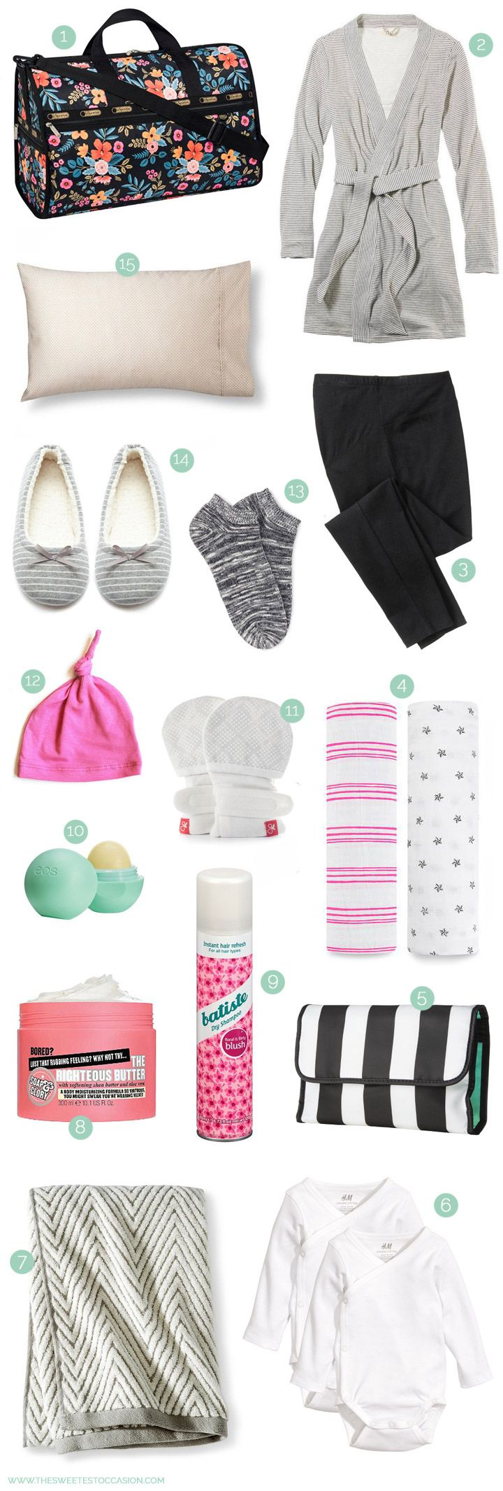 What to Pack in Your Hospital Bag from @cydconverse