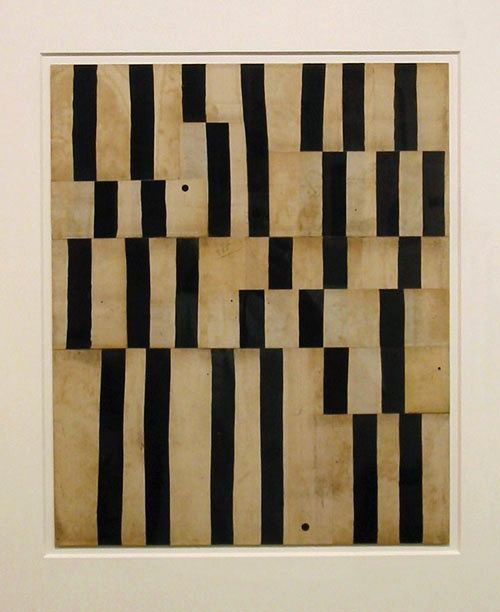 """Robert Kelly.  """"Thicket assemblage VII"""" 2004.  Mixed media.  17 x 14 inches."""