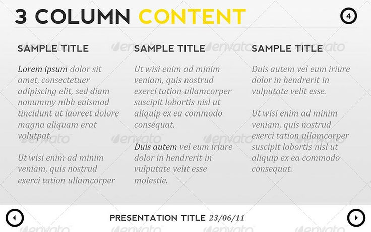 Black & Yellow Presentation Template