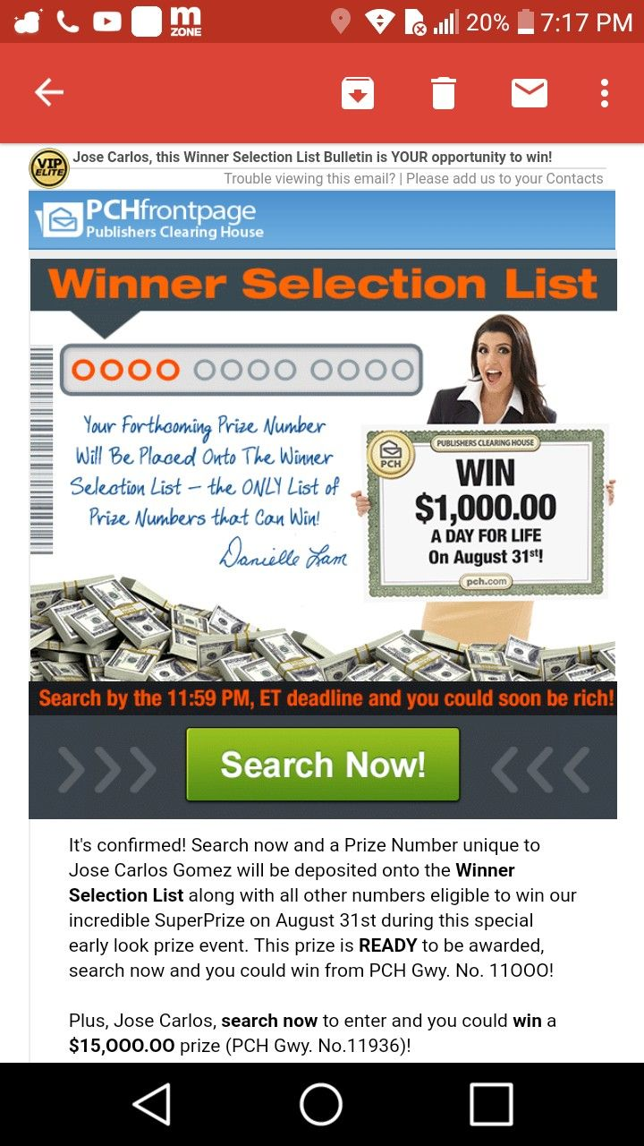 I jcg claim and want to secure this unique prize number