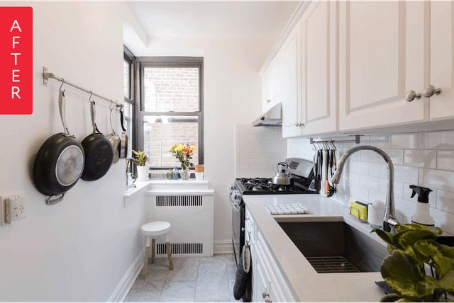 If you've ever found yourself a bit dismayed by a remodel where the homeowners took a perfectly serviceable kitchen and subjected it a complete gut renovation, then this project is for you. Instead of starting from scratch, Lindsay and Matt made just a few small changes to their Brooklyn kitchen, creating a fresh, modern space with a minimum of hassle (and a minimal budget).