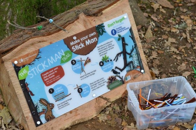Stick Man Trail - Find your nearest trail at http://www.forestry.gov.uk/stickman