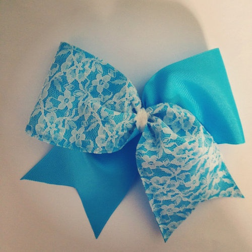 cheerleading bow, cute for fall fest or something like that; homecoming!