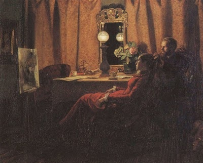 Anna Ancher and Michael Ancher Looking at the Day's Work.: Danishes Artists, Michael Ancher, Art Anna, Danishes Painters, Ancher 1859 1935, Ancher Brøndum, Posts, Work 1883, Anna Ancher