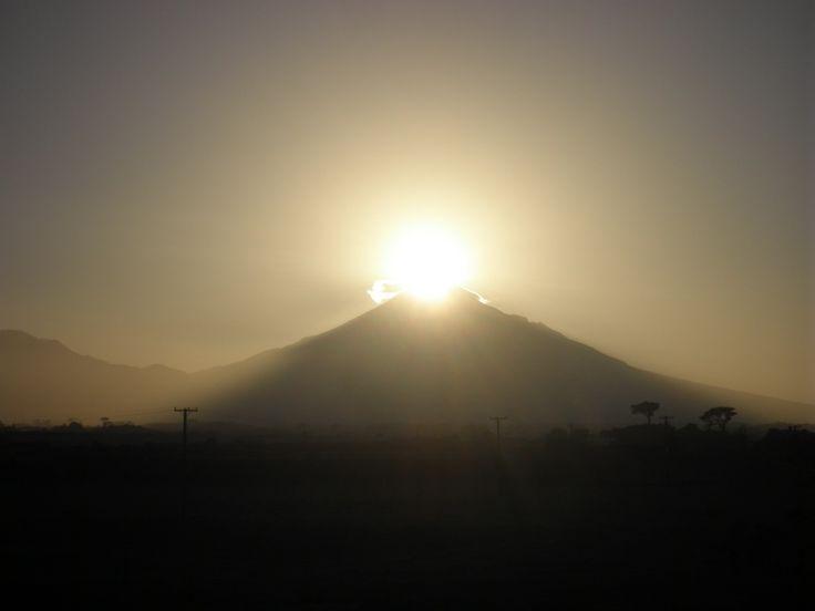 Sunrise over Mount Egmont.