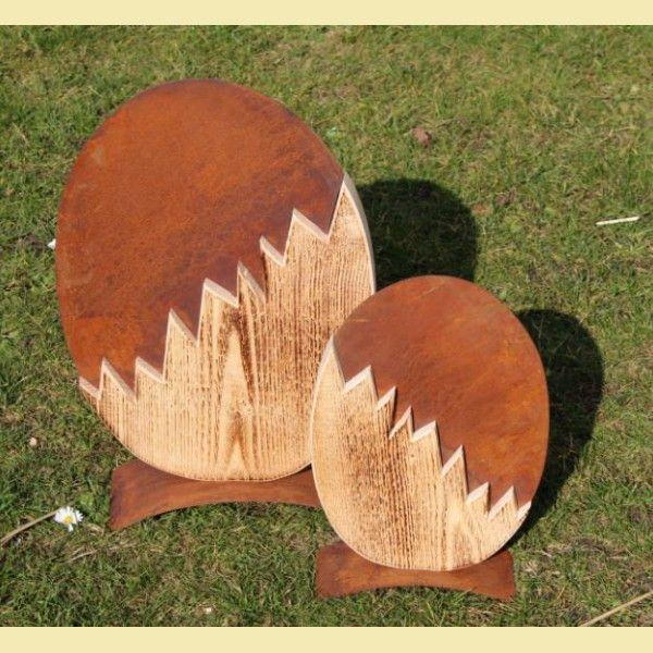 Badeko Frühlingsdeko, Osterdeko, Osterei, Ei zweiteilig aus Holz und…