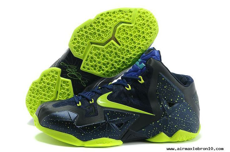 Nike LeBron 11 NikeID Navy Volt Blue Sale Online