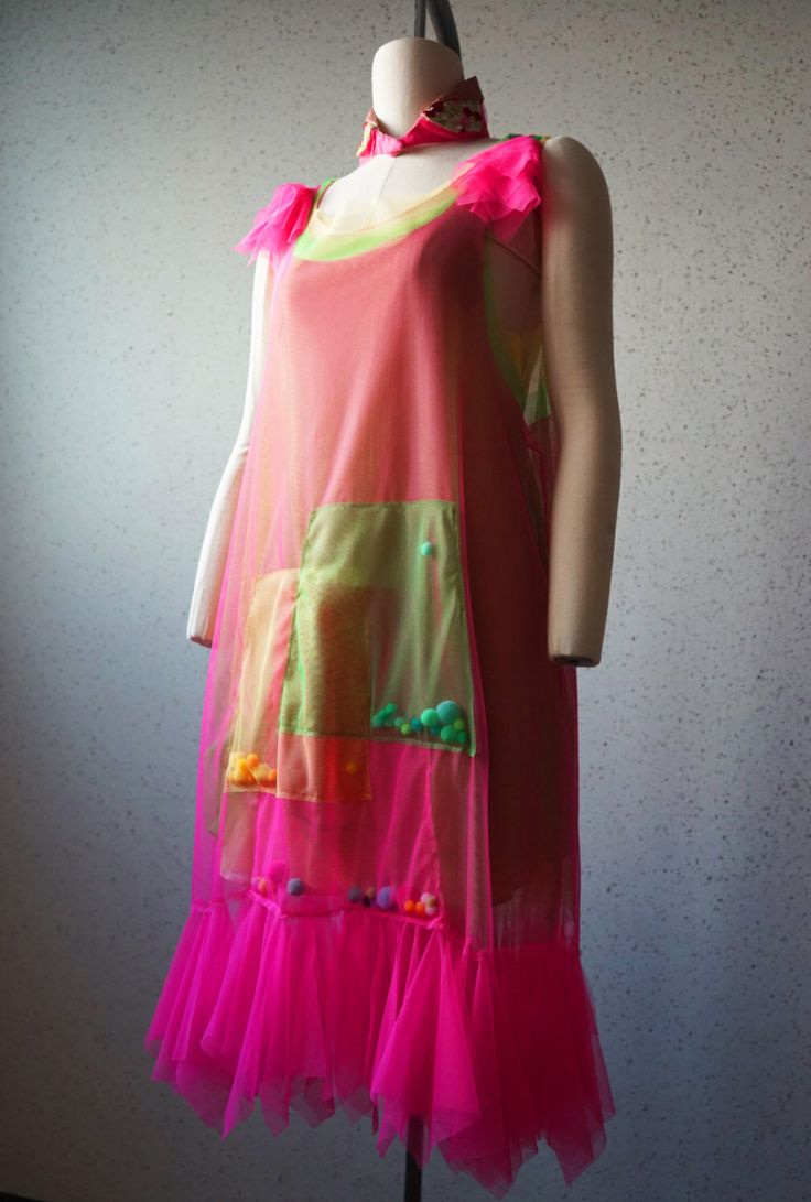 A personal favorite from my Etsy shop https://www.etsy.com/listing/253730143/tulle-flapper-dress-hotpink-vintage
