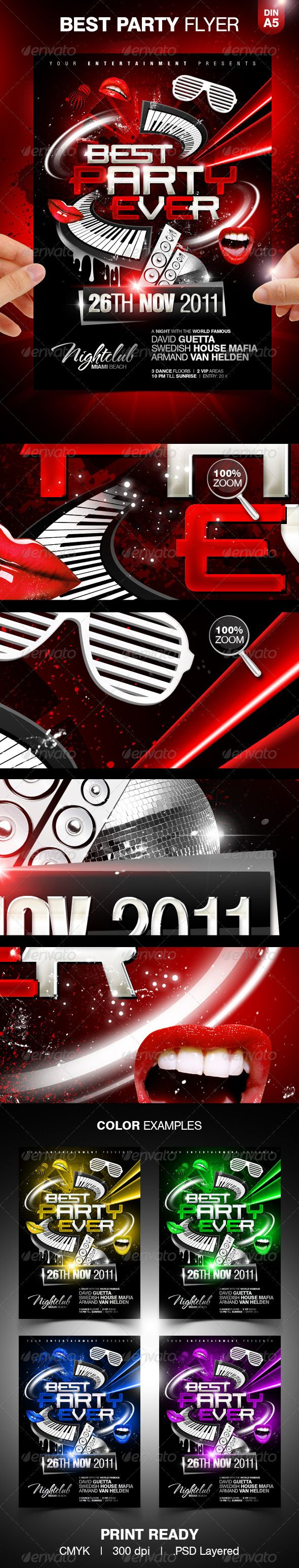 Best Party Ever Party Flyer Template - GraphicRiver Item for Sale