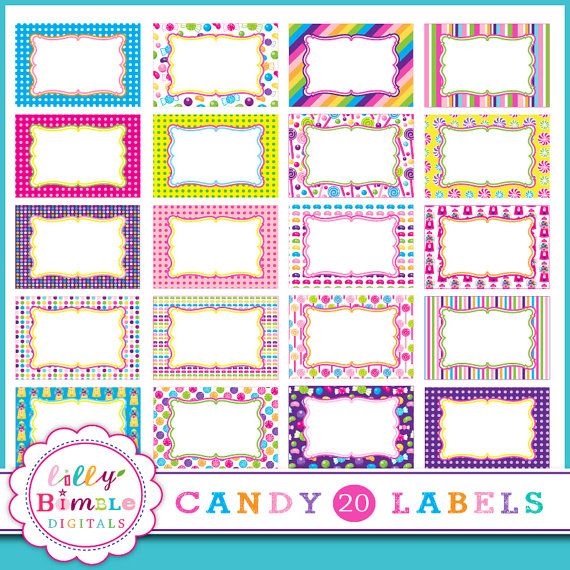 40% off Candy Labels frames 20 png candyland labels by LillyBimble