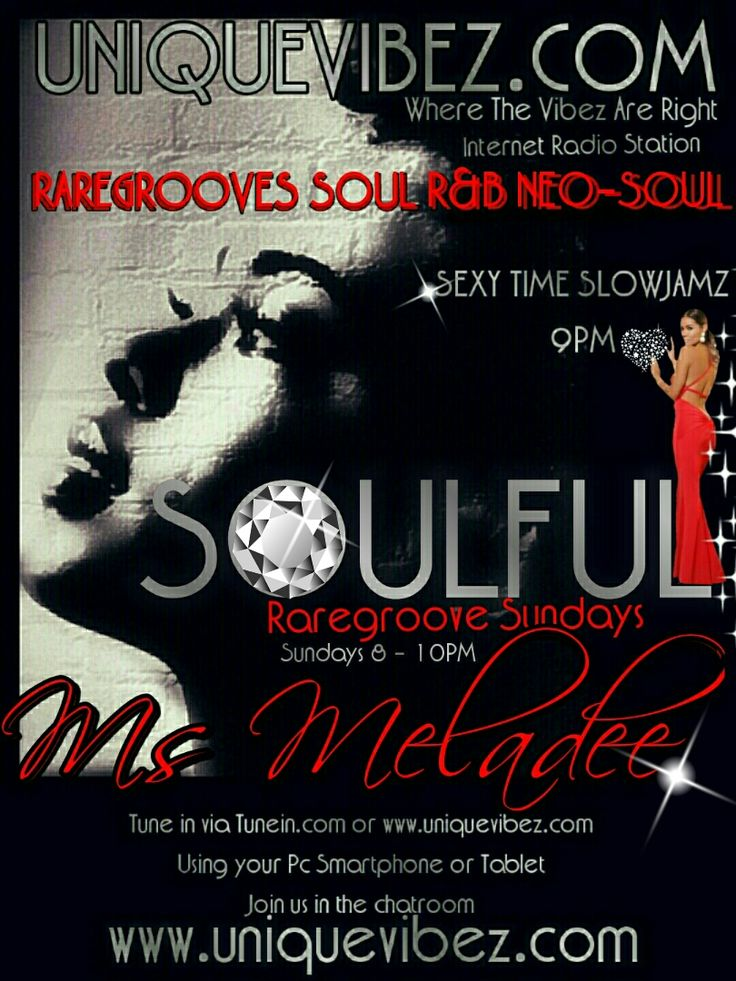Join Ms Meladee 8-10pm every Sunday for her Soulful Rare Groove Sunday playing the best in old skool soul, rare groove, neo soul, independent soul and slow jams