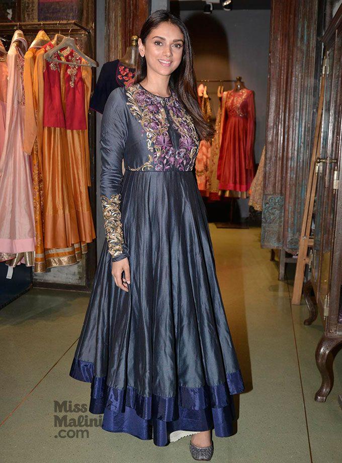 Aditi Rao Hydari in a beautiful floor length Anarkali.