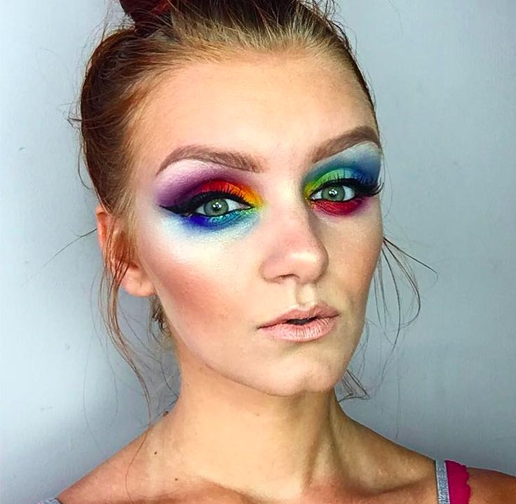 Rainbow Pride Makeup Look